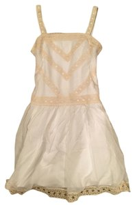 Ann Taylor short dress white and beige on Tradesy