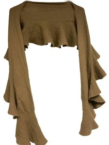 Magaschoni Magaschoni Ruffled Cashmere Scarf in Mink (Caramel)