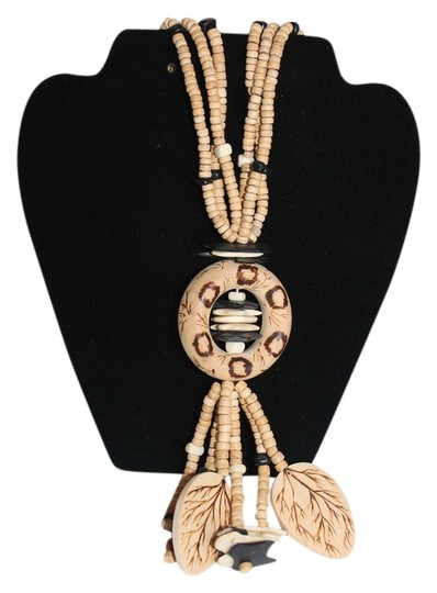 Other Vintage African Wood and Bead Necklace