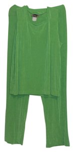 Slinky Brand Wide Leg Pants Bright Green