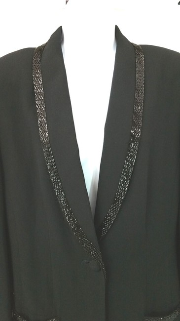Other Embellished Tuxedo Cocktail Jacket BLACK Blazer