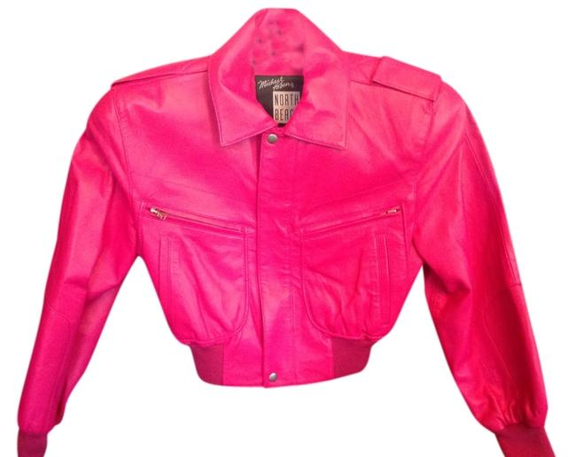 Michael Hoban I Don't Know That I Ever Wore This I Bought It In The 80's Has Shoulder Pads Pink Leather Jacket