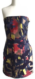 DKNY Strapless Abstract Jacquard Dress