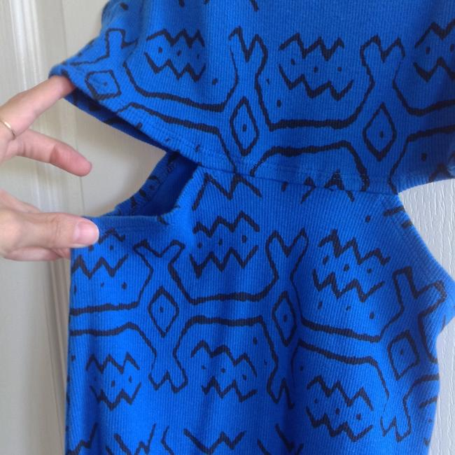 Blue with black print Maxi Dress by Urban Outfitters