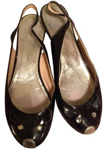 Marc by Marc Jacobs Black with glitter Flats