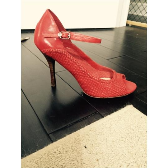 BCBGMAXAZRIA Red/ Poppy Pumps