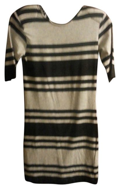French Connection short dress Grey/BLK Mini Fitted on Tradesy