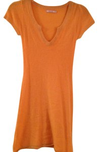 Calypso short dress Tangerine on Tradesy