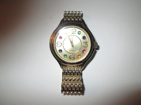 Other Quartz watch with multicolor stones artificial, NWOT