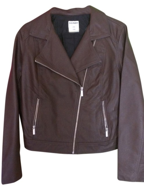 Old Navy Brown Leather Jacket