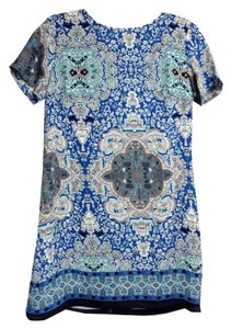 Olivaceous short dress Blue/Grey Small Holiday Paisley on Tradesy