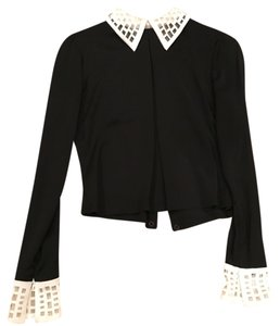 Catherine Malandrino Top black with cream trim