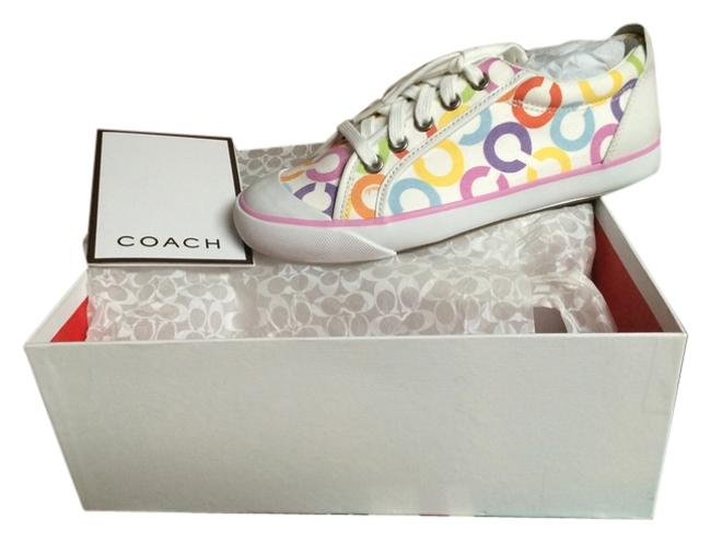 Item - White with Multi Color Signature Box Never Worn Great For Summer Included. Sneakers Size US 7 Regular (M, B)