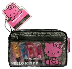 Hello Kitty Hello Kitty Cosmetic Bag With 5 Lip Glosses
