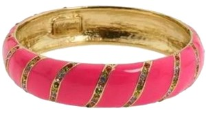Kate Spade Inspired Kate Spade Design Going the Extra Mile with Bands of Sparkling Pave Crystal Accents! NWT Kate Spade Pink Crystal Lollie Bangle Bracelet! Sublimely Wonderful!