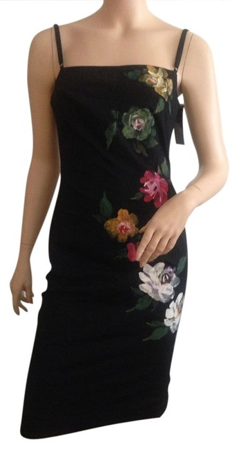 Preload https://item2.tradesy.com/images/mandalay-black-hand-painted-new-knee-length-cocktail-dress-size-8-m-914476-0-0.jpg?width=400&height=650
