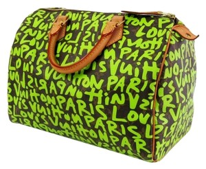 Louis Vuitton Satchel in Verte (Green) Graffiti