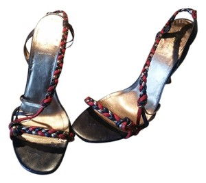 Fendi Multicolor Red, Blue & Bronze Sandals