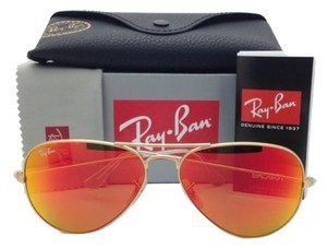 Ray-Ban Ray-Ban RB3025 Aviator 112/69 Orange Mirror Lens With Gold Frame size 58mm