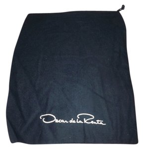 Oscar de la Renta Navy Blue With white Logo Travel Bag