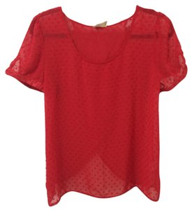 Urban Outfitters Sheer Top Red