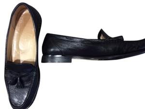 Amalfi Black Leather Flats