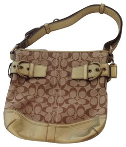 Coach Leather Signature Shoulder Bag