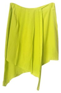 Line & Dot Small Neon Green Wrap Small Mini Skirt Green Neon