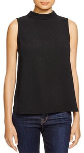 Aqua Mock Flowy Top Black