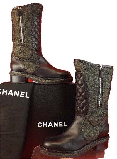 Preload https://img-static.tradesy.com/item/9147832/chanel-black-wool-quilted-leather-cc-logo-velcro-2x-zip-tall-bootsbooties-size-eu-40-approx-us-10-re-0-1-540-540.jpg