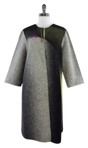 Nina Norton Grey Green Wool Coat