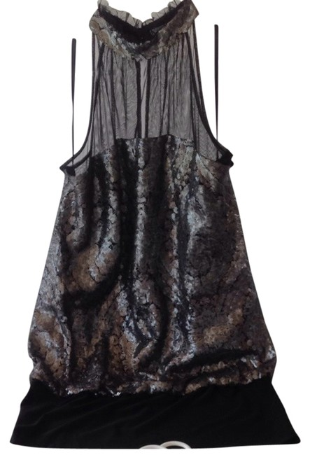 Alberto Makali Sequin Sheer Evening Special Event Dress