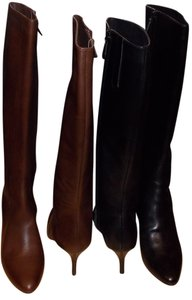 Cole Haan Black and Brown Boots