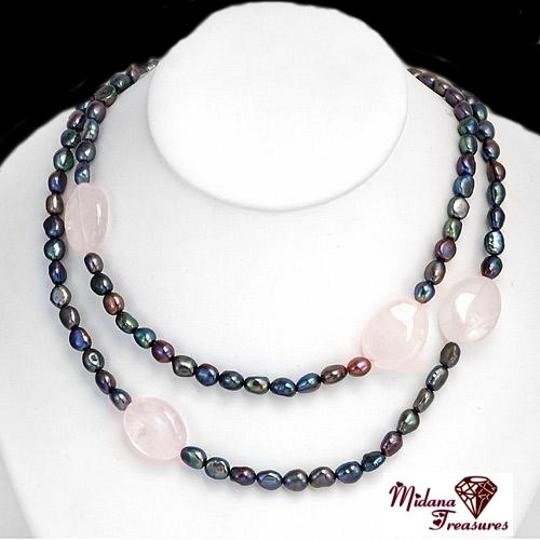 Preload https://item3.tradesy.com/images/black-genuine-cultured-freshwater-pearls-and-pink-quartz-necklace-914897-0-0.jpg?width=440&height=440