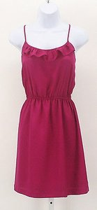 Forever 21 short dress Magenta Ruffle on Tradesy