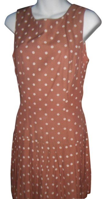 Preload https://item5.tradesy.com/images/brown-sexy-light-with-poka-68-with-pleats-above-knee-short-casual-dress-size-6-s-915204-0-0.jpg?width=400&height=650