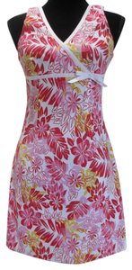 City Triangles short dress Pink/Red/Yellow/White Bow Detailing Back Zipper on Tradesy