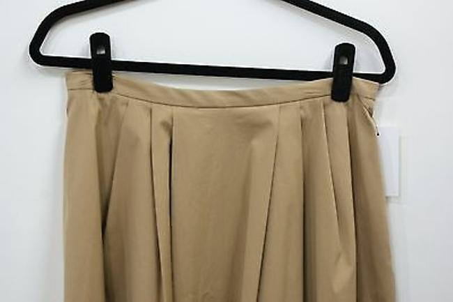 Michael Kors Collection Beigetan Pleated Skirt Beige