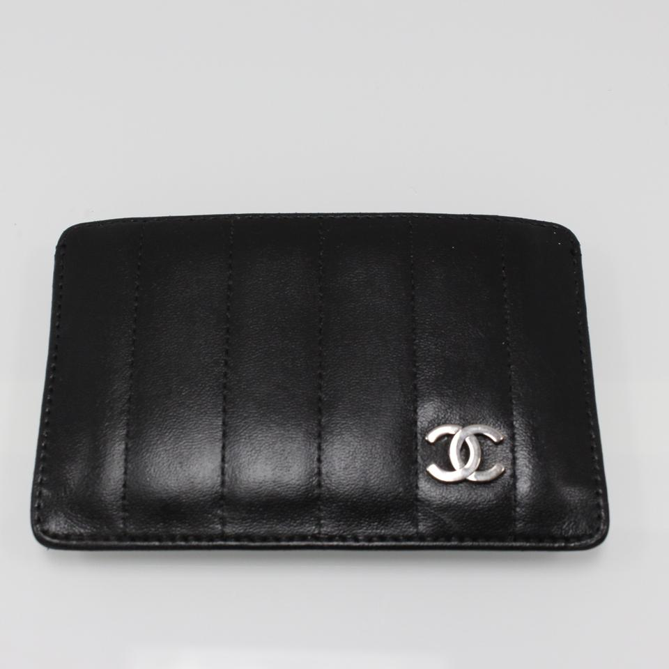 3ffa24fe944f Chanel CHANEL SIGNATURE CC BLACK Lambskin Leather Quilted Chevron CARD  HOLDER Image 7. 12345678