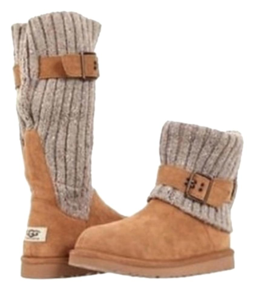 48e09195909 UGG Australia Chestnut Uggs Cambridge Knit Suede 1003175 Womens  Boots/Booties Size US 9 Regular (M, B)