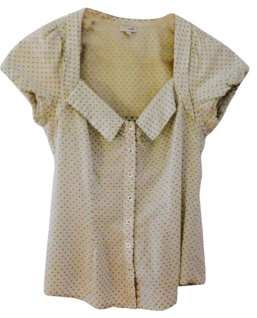 Odille Button Down Shirt White And Green