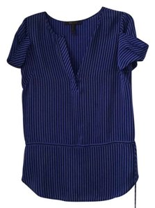 BCBGMAXAZRIA Top Blue with navy stripes