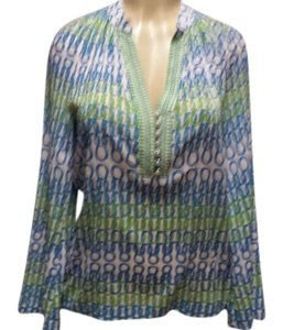 Trina Turk Top Blue/green
