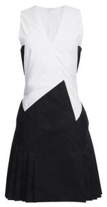 Thakoon Addition short dress Black/White Cutaway Cut-out Color-blocking Sleeveless Geometric on Tradesy