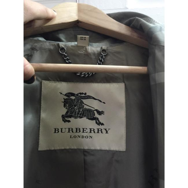 Burberry London Grey Plaid Jacket
