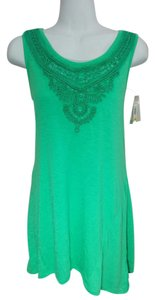 Style & Co Sequin Top Green