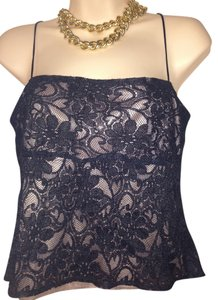 Zara Woman Lace Lined Size L Perfect Spaghetti Straps. Top black