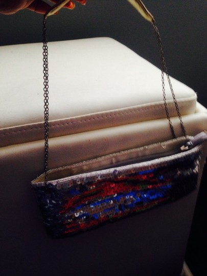 New York & Company Silver Clutch