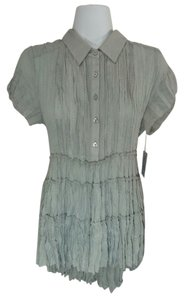 NY Collection Pleated Top Gray