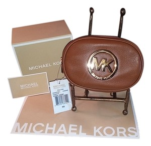 Michael Kors Michael Kors Fulton Travel Pouch Cosmetic Case Make Up NWT Luggage Brown Leather